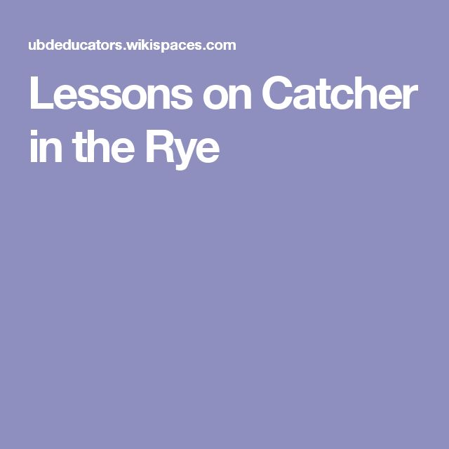 Sparknotes Pdf Catcher In The Rye